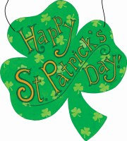 "15"" x 13"" Happy St. Patrick's Day! Outdoor Hanging Plaque"