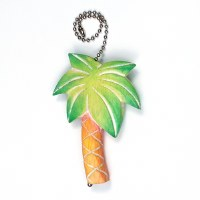 "6"" Multi Color Palm Tree Fan Pull"