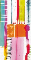 """8"""" x 4"""" Multicolor Abstract Colore Guest Towels"""