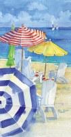 "8"" x 4"" Watercolor Beach Guest Towels"
