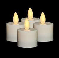 "2"" Pack of 4 Ivory Moving Flame Votive Candles"