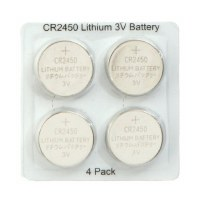 Pack of 4 CR2450 Lithium 3V Batteries