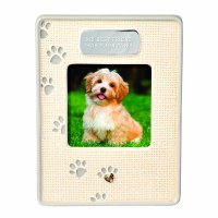 "3"" x 3"" Cream Textured My Best Friend Has Paws Photo Frame"