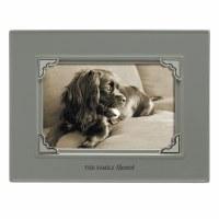 "4"" x 6"" Dark Gray 'The Family Mascot' Pet Memory Photo Frame"
