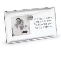 "2.5"" x 2.5"" Mom My Friend Glass Clip Photo Frame"
