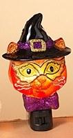 """6"""" Witch Cat Night Light"""