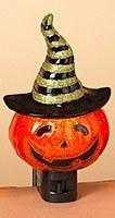 "6"" Jack-O'-Lantern Witch Night Light"