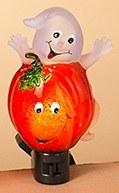 "6"" Pumpkin and Ghost Night Light"