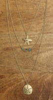 """13"""" Gold Layered Sea Life Necklace"""