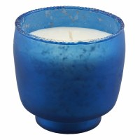 """4"""" Frosted Blue Cypress and Sea 1 Wick Glass Tumbler Candle"""