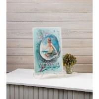 Vintage Mermaid Cove Decorative Metal Plaque