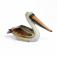 """5.5"""" Sitting Brown Pelican Figurine"""