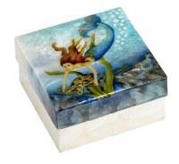 """4"""" Square Mermaid Capiz Box"""