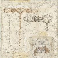 "5"" Square Beige Embossed Twisted Paper Beverage Napkins"