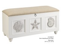 "38"" White Padre Island Bench Chest"
