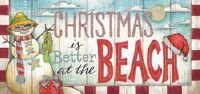 """4"""" x 9"""" Box of 14 'Christmas is Better at the Beach Christmas Greeting Cards"""