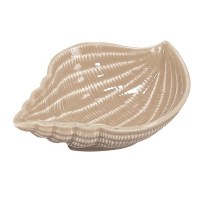 """5"""" Sand Textured Ceramic Conch Shell Bowl"""