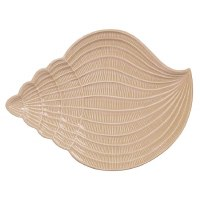 """14"""" Sand Textured Ceramic Conch Shell Plate"""