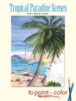 Tropical Paradise Scenes Painting Book
