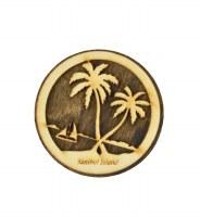 Sanibel Sailboat Palms Magnet