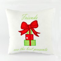 """10"""" Square Friends Are The Best Presents Pillow"""