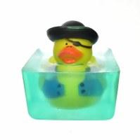 "3"" Black Hat Pirate Duck Toy in Glycerin Soap"