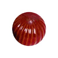 "4"" Red Ribbed Ceramic Orb"