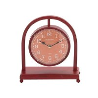 """11"""" Red and White Arch Clock"""