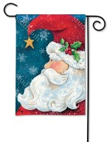 "18"" x 12"" Mini Santa 'Christmas Wishes' Welcome Garden Flag"