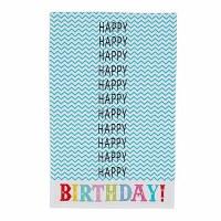"28"" x 18"" Happy Happy Happy Birthday Kitchen Towel"