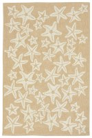 5 ft. x 7 ft. 6 in. Neutral and Off White Starfish Rug