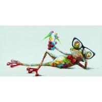 """24"""" x 47"""" Multicolor Geek Chic Treefrog Canvas Print"""