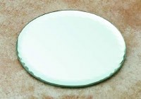 "4"" Glass Round Bevelled Mirror"