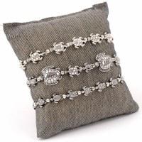 Medium Distressed Silver Finish Sea Turtle Stretch Bracelet