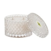 10 oz. Pineapple Cilantro No. 391 Double Wick Faceted Glass Candle