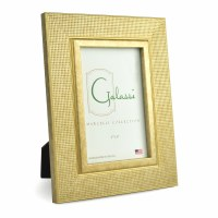 """4"""" x 6"""" Gold Textured Grid Galassi Photo Frame"""