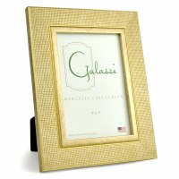 """5"""" x 7"""" Gold Textured Grid Galassi Photo Frame"""