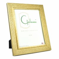 "8"" x 10"" Gold Textured Grid Galassi Photo Frame"