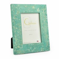 "3"" x 5"" Aqua with Gold Accents Galassi Photo Frame"