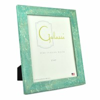 "8"" x 10"" Aqua with Gold Accents Galassi Photo Frame"