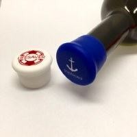 Set of 2 Lifesaver and Shipfaced Silicone Wine Bottle Caps