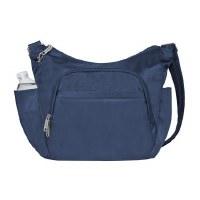 "10"" Blue Anti-Theft Crossbody Bucket Bag"