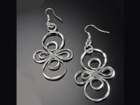 Silver Infinity Loop Earrings