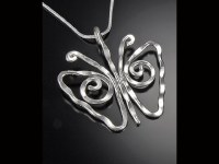 """18"""" Silver Butterfly Shaped Necklace"""