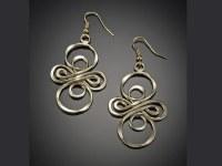 Gold Infinity Loop Earrings