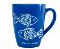 14OZ Sanibel Blue Fish Etched Mug