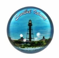 "3"" Sanibel Island Lighthouse Glass Paperweight"