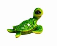 "3"" Green Textured Sea Turtle Sculpture"