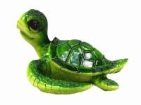 "7"" Green Textured Sea Turtle Sculpture"