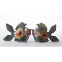 """3"""" Ceramic Miss Lorelei Fish Salt and Pepper Shakers"""